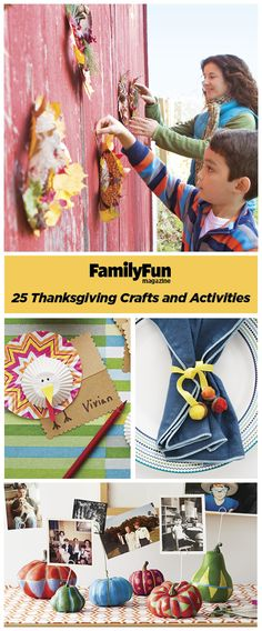 Keep your kids busy this Thanksgiving with an assortment of activities that they are sure to love. Make easy crafts that can serve as seasonal décor and play exciting themed games. These fun ideas will keep the whole family entertained for hours.