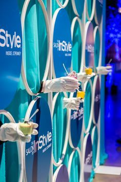 Experiential photo booths allow attendees to embed themselves into the background and props.