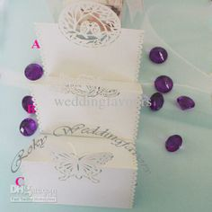 Wholesale Wedding Party Gifts - Buy !!White Butterfly Laser Cut Wedding Place Cards!Wedding/Party Table Decoration, $0.42 | DHgate