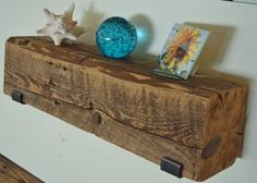 Reclaimed Barn Beam Shelf  22 x 6 x 6 with by UpcyclartDesigns
