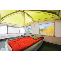 Coleman Max 13u0027 x 9u0027 Family Cabin Tent  sc 1 st  Pinterest & Bushnell 6 Person Instant Cabin Tent with 2 Bonus Twin Airbeds ...