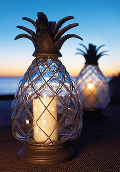 Fun outdoor pineapple lanterns from Frontgate.