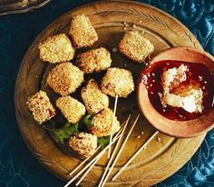 Sesame haloumi bites: Moroccan Themed dinner party