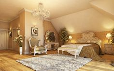 A sumptuous and luxurious bedroom filled with baroque style furniture and exotic fabrics. #homeandstyleliving