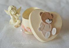 Geschenk Geburt Taufe Teddy rosa von PHOTOGLÜCK auf DaWanda.com