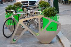 Now you can stand and bike for something good at the Center City Philly Shack, thanks to SHIFT_Design's sweet new eco-friendly bike corral installed directly outside the Shack this week.