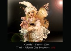 OOAK Faerie  One-of-a-kind polymer clay sculpture  by Verona Barrella
