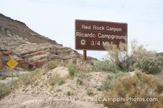 Red Rock Canyon Ricardo Campground Sign - Red Rock Canyon Ricardo Campsite Photos - campsitephotos.com