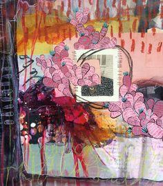"""Lovely"" journal spread by artist Roxanne Coble (aka BY BUN)"