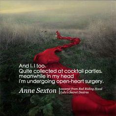 Anne Sexton Lulu's Secret Desires www.facebook.com/lulus.secret.desires