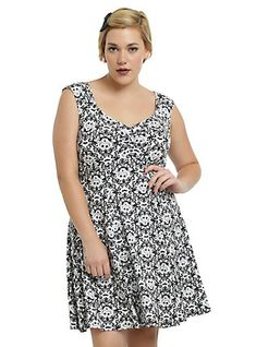 The Nightmare Before Christmas Rockabilly Dress Plus Size, BLACK