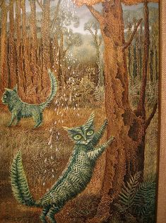 remedios varo, leafy kitties