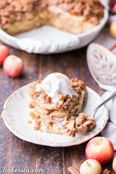 This Apple Crumble Pie is so delicious, it's bound to be a holiday dessert staple! Filled with soft, caramelized apples and topped with a nutty, crunchy paleo crumble topping, you'll love this gluten-free, paleo + vegan pie. Thanks to Bob's Red Mill for sponsoring this post. As you may have guessed from the fact that …