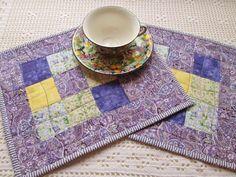 Spring Cottage Chic Lavender Patchwork by MoonDanceTextiles