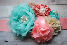 Hey, I found this really awesome Etsy listing at http://www.etsy.com/listing/121955572/vintage-glamour-mint-coral-peach-ivory