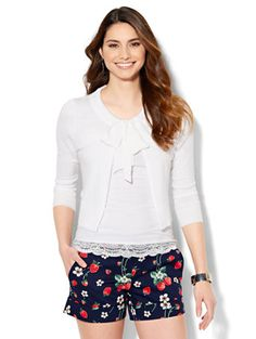 Shop Tie-Front Cardigan. Find your perfect size online at the best price at New York & Company.