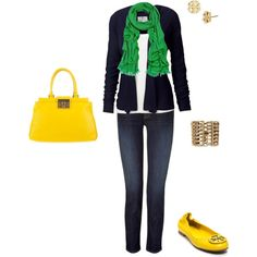 Kicking it up with color, created by dapeja.polyvore.com