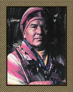Robert Bushyhead, of the Eastern Band of Cherokee, resident of the Qualla Boundary. One of the last great speakers of the Cherokee language.