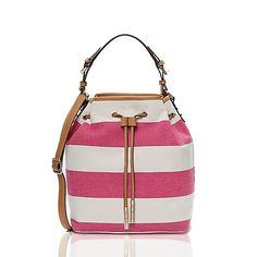 Image for CANVAS STRIPE BUCKET BAG from Tommy Hilfiger USA