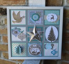 Christmas Framed Art with Winter Frost DSP and tons of Christmas stamps... details on my blog.