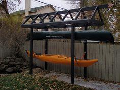 Kayak canoe sup storage racks . Kayak, sup and canoe storage racks protect by suspending your kayaks, canoes and sups with suspenz kayak storage ra. Surfboard Storage, Kayak Storage Rack, Kayak Rack, Boat Storage, Kayak Camping, Canoe And Kayak, Kayaking Gear, Kayak Fishing, Kayak Stand