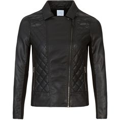 M&S Collection PLUS Biker Jacket ($79) ❤ liked on Polyvore featuring outerwear, jackets, black, lined jacket, black jacket, black biker jacket, long sleeve jacket and black evening jacket
