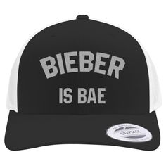 Bieber Is Bae Embroidered Retro Embroidered Trucker Hat