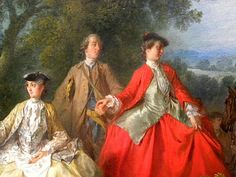 Nicolas Lancret, The Picnic after the Hunt. Oil on canvas c. 1740. The National Gallery of Art (Washington, D.C.)  detail