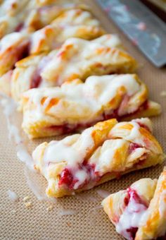 Raspberry Danish Bread.