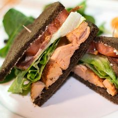 Smoked salmon BLTs are a delicious way to use smoked salmon and step up your BLTs. The reason smoked salmon BLTs are so tasty is the rich smokiness from the salmon knows how to compliment the bacon and the pumpernickel.