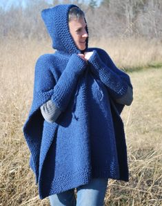 Poncho with Fingerless Mittens (double knit) « KB Looms Blog
