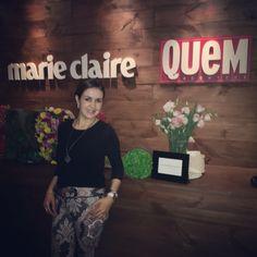 Fui para SPFW convidada para o lounge da Revista Quem acontece e Marie Claire! Tudo maravilhoso!