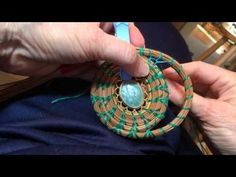 Pine needle coiling Fagot stitch - YouTube