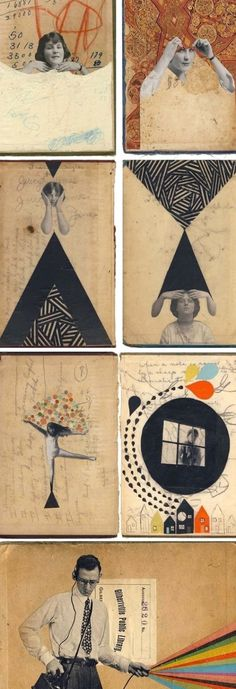 Hollie Chastain: Book Cover Collage | Book art, Sketch book, Artist books #bookcover #books #bookcoverdesign Collage Kunst, Art Du Collage, Mixed Media Collage, Collage Book, Collage Artists, Tree Collage, Collage Collage, Painting Collage, Collage Design