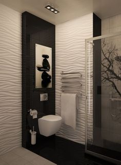 6 Most Useful Small Bathroom Design Ideas - Des Home Design New Bathroom Designs, Small Bathroom Renovations, Modern Bathroom Design, Bathroom Interior Design, Modern Interior, Shower Tile Designs, Decorating Bathrooms, Contemporary Bathrooms, Modern Design
