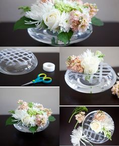 Beautiful house with 5 'fast' flower arrangements Floral arrangements diy Fast Flowers, Diy Flowers, Flower Vases, Flower Decorations, Wedding Decorations, Flowers Gif, Ikebana, Deco Floral, Floral Design