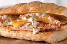 "... dill and horseradish-Dijon mayo make a ""dill-icious"" filling fo..."