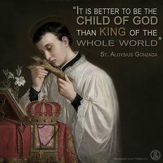 St. Aloysius Gonzaga, pray for us.