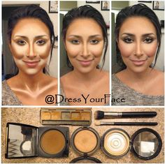 Here is the step-by-step on contouring and highlighting the face