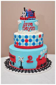 Thomas the train cake - by SpringBloomCakes @ CakesDecor.com - cake decorating website #ThomasTankEngine #Cake