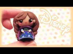 ▶ Disney Frozen Anna Polymer Clay Charm Tutorial - Chibi - YouTube way way way tedious for my taste but pinning for later