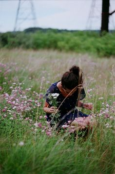 Picking wildflowers. hellanne:  (by sharks keep moving) Lady Grey, Vintage Gardening, Wild Flowers, Couple Photos, Folk, Couple Pics, Popular, Wildflowers, Folk Music