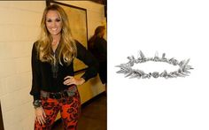 Carrie Underwood wearing the Renegade bracelet by Stella  Dot #renegade #celebritystyle #stelladotstyle #stelladot