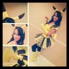 """Hand Made Pikachu Costume! :3 Happy Halloween ~chu!"" by zeldastar"