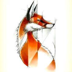 Cool Fox Tattoo Design