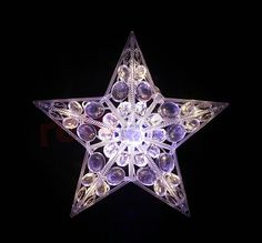 Décoration de Noël - étoile LED blanche http://www.rotopino.fr/decoration-de-noel-etoile-led-blanche-bulinex-10-302,58135 #noel #decoration #rotopino #cimier #cimierdesapin