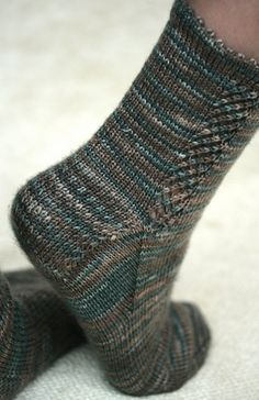 Dublin Bay Sock - free knitting pattern
