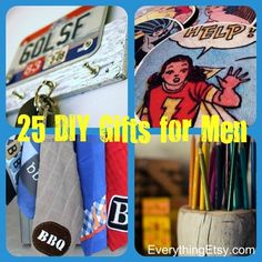 25 DIY Gifts for Men -- Have fun with this for Christmas! #tutorials #holiday