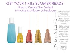 Get Your Nails Summer-Ready: How to create the perfect in-home manicure or pedicure.