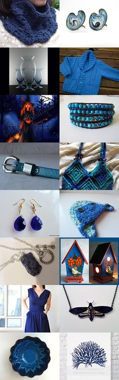 Mysterious Shades of Blue by YET MEE KIN on Etsy--Pinned with TreasuryPin.com